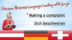 Making a Complaint /German Business Language