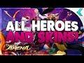 ONMYOJI ARENA | All Heroes and Skins | Global Version
