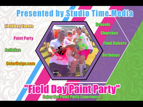 Field Day Paint Party and Obstacle Course
