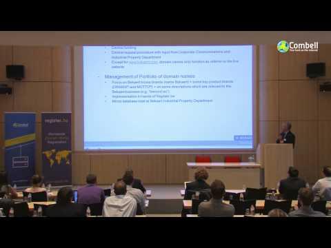 New gTLD conference Marc Messely van Bekaert