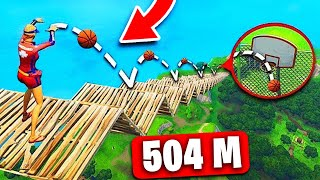 *RECORD* SHOT en BASKET à 504 MÈTRES sur FORTNITE Battle Royale !