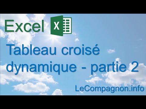 Excel 2007 - Tableau croisé dynamique, Partie 2 - YouTube