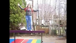 Showing Off The New Balance Beam (12 Ft.) - Gymnastic Equipment Review 1