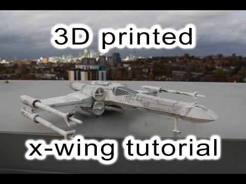 How I 3D printed an X-wing using Solidworks