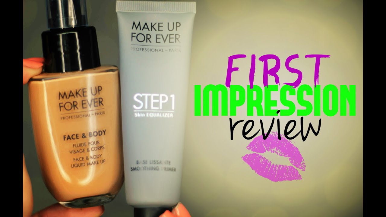 FIRST IMPRESSION REVIEW Makeup Forever Face U0026 Body Foundation + Step 1 Primer - YouTube