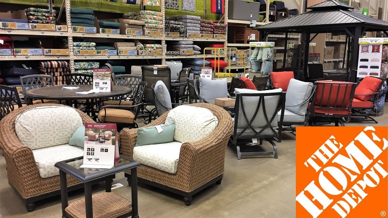 Home Depot Outdoor Patio Furniture Summer Home Decor Shop With Me