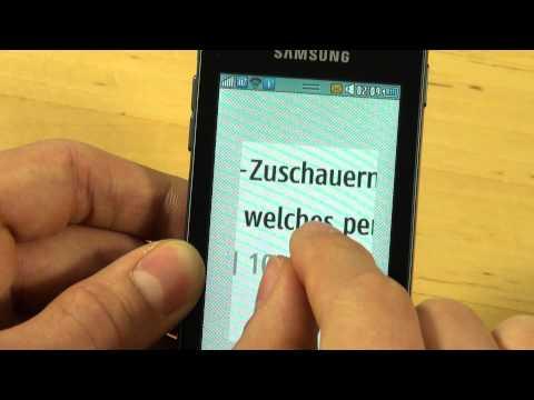 Samsung S7230 Wave 723 Test Internet