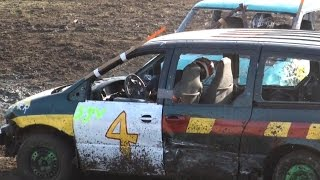 Dresden Raceway | Dresden Spring Smash 2016 | Mini Vans Demolition Derby
