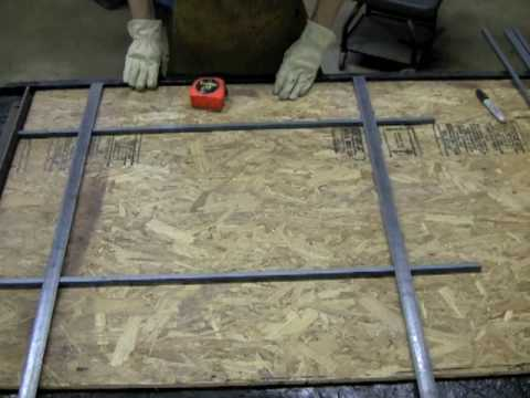 How To Weld Welding Security Bars Without Using Any Jigs