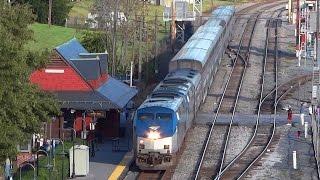 Amtrak Capitol Limited Moving Thru Brunswick yard
