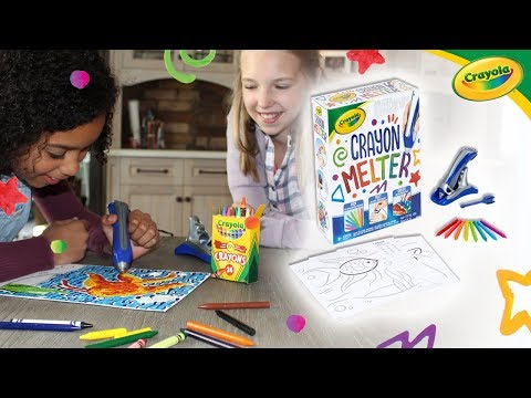 Create Colorful Masterpieces With the Crayola Crayon Melter! | A Toy Insider Play by Play