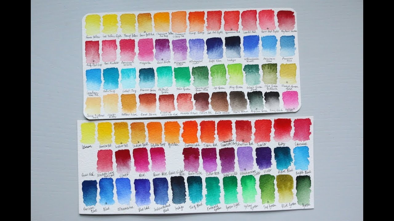 Customised Watercolour Palette Comparison St Petersburg