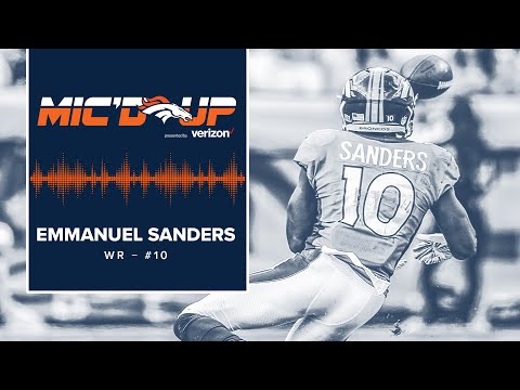 Mic'd Up: Emmanuel Sanders in #OAKvsDEN