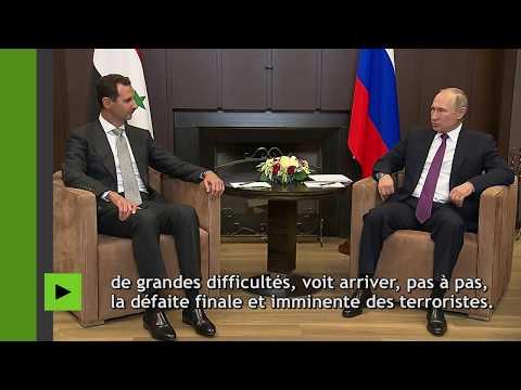 Poutine félicite Assad des résultats atteints par la Syrie dans la lutte contre le terrorisme