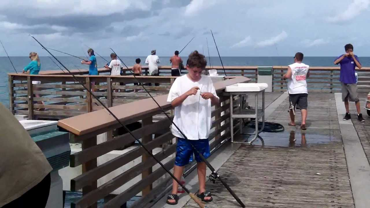 Catching snook on the juno pier in juno beach florida for Juno pier fishing report