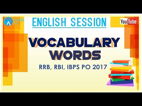 Vocabulary Words | English for SSC CGL 2017
