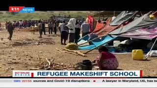 Refugee Makeshift school   Bottomline Africa