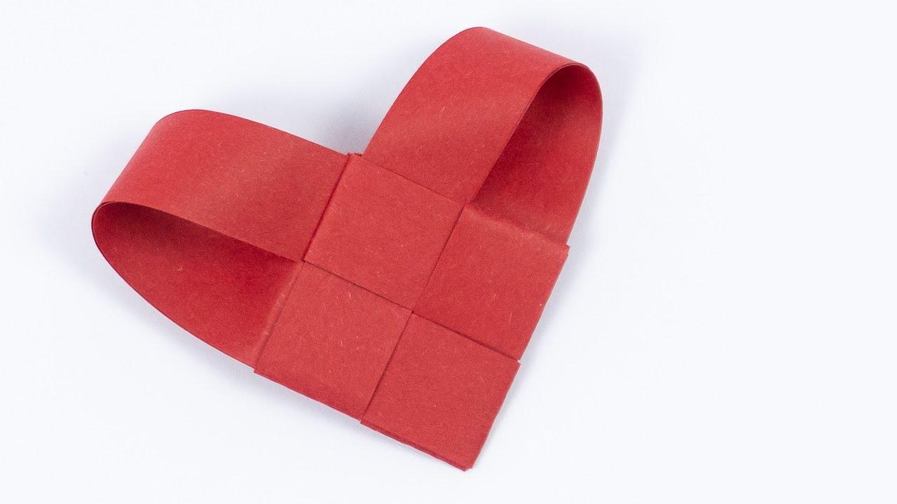 Herz Aus Papierstreifen Falten Herz Basteln Mit Papier Youtube