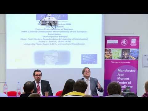 "JMCE Annual Lecture 2014 - Guy Verhofstadt ""Challenges for Europe"""