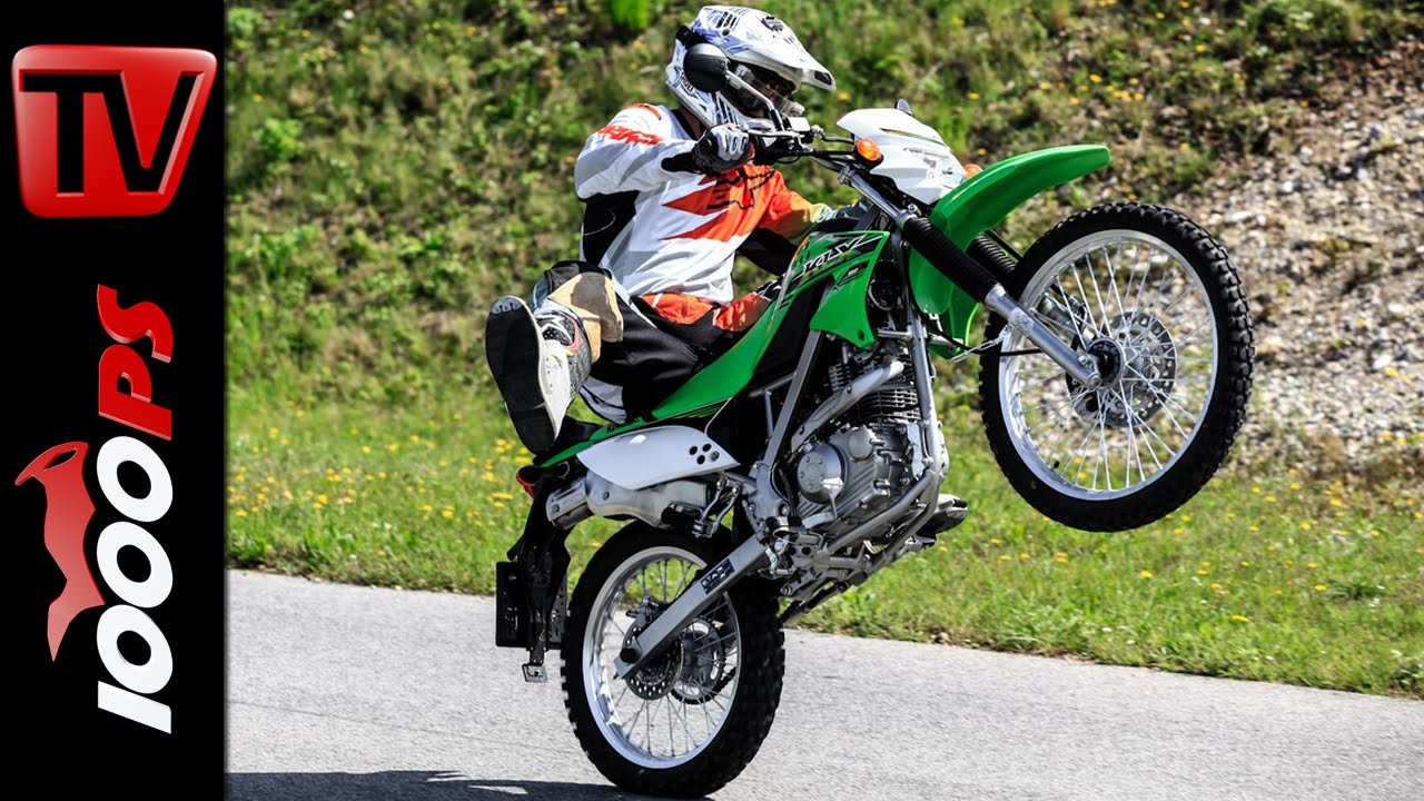 Kawasaki Klx 150 L 2014 Test Action Stunts Crash Youtube