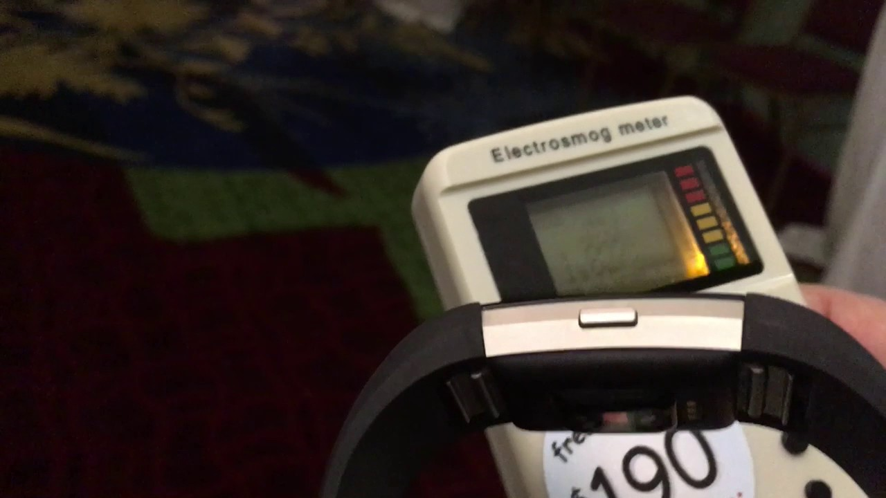 Measuring Wireless Levels from a Fitbit