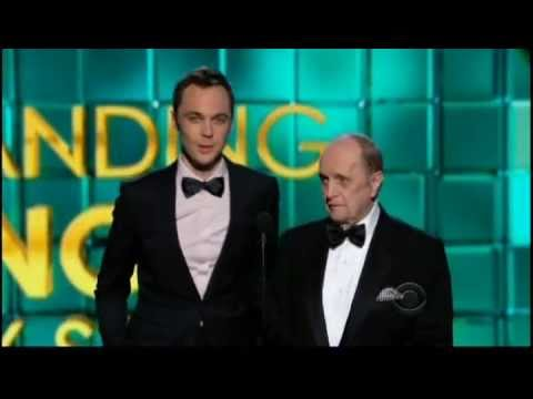 Jim Parsons and Bob Newhart present at the Emmys 2013