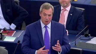 Nigel Farage was heckled in the European Parliament after accusing ...