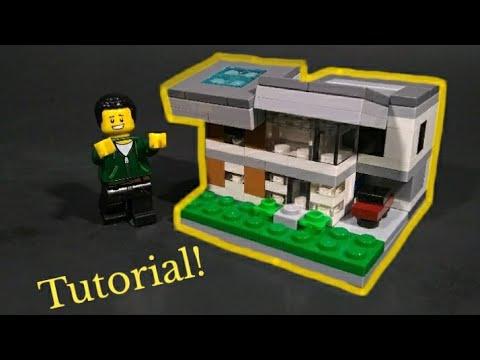 Mini Lego Modern House Tutorial Stop Motion Youtube