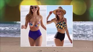 видео Выбираем купальник по цвету и форме. Купальники для полных и будущих мам