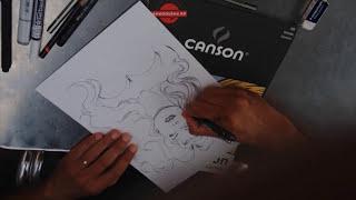 Claudio Castellini dibuja a Red Sonja en las Jornadas del Cómic de Avilés 2015