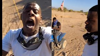 Blac Youngsta Screams After Getting Lost In The Desert With Moneybagg Yo