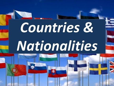 Countries And Nationalities In English. Страны и национальности на английском языке детям