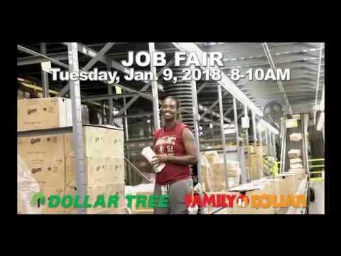 Family Dollar Distribution Center JOB FAIR on Tuesday, Jan. 9, 2018