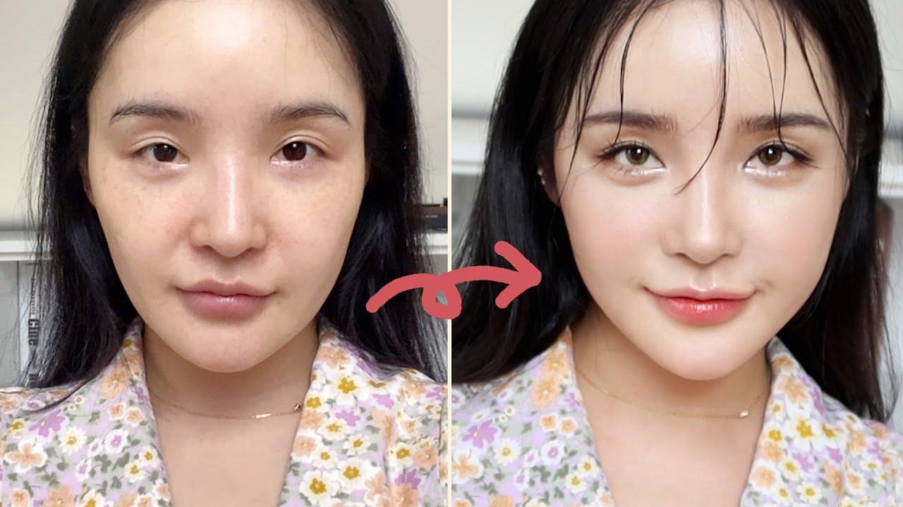 핵꿀팁!! ✨비대칭 완벽 교정✨ 새 얼굴 만드는 '청순'한 느낌 성형 메이크업ㅣLAMUQE