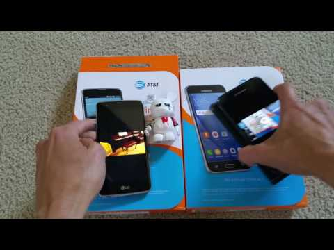 New AT&T Go Phone Prepaid LG Phoenix 2 vs Samsung Express Prime Comparison Test 2016