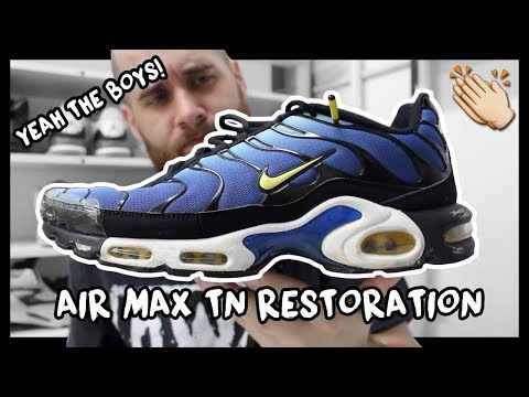 2013 HYPER BLUE NIKE AIR MAX PLUS TN MIDSOLE RESTORATION! thumbnail