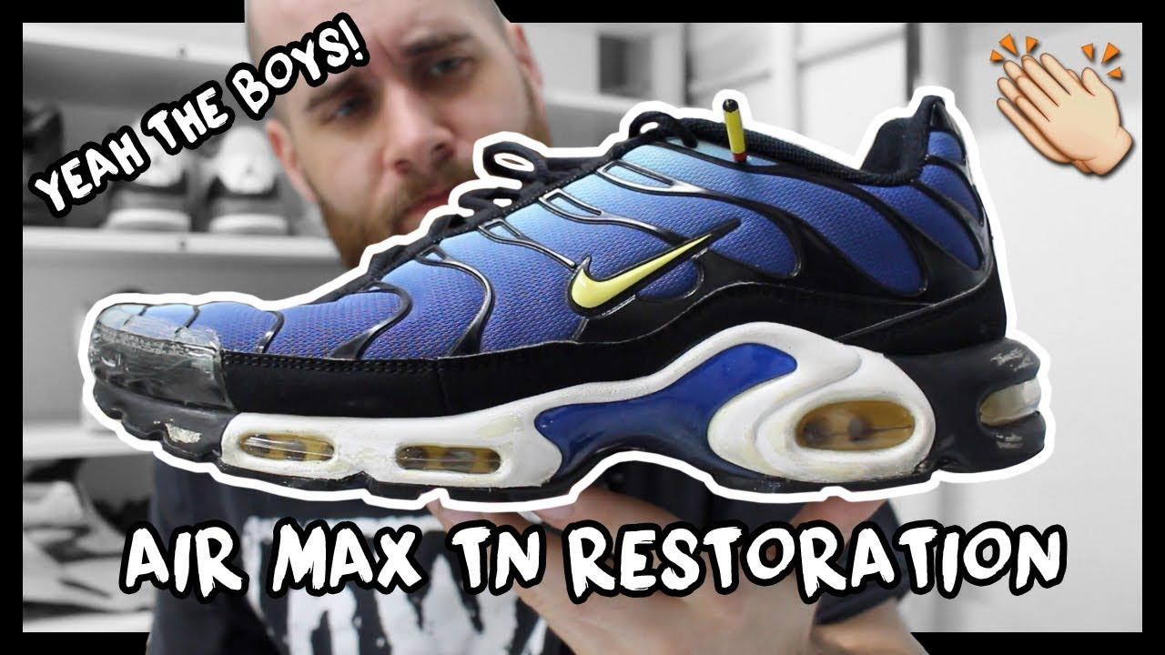 Acostumbrados a Reino occidental  2013 HYPER BLUE NIKE AIR MAX PLUS TN MIDSOLE RESTORATION! - YouTube