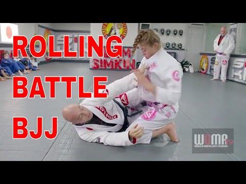 ROLLING BJJ BATTLE Dad Vs Daughter Rnd1