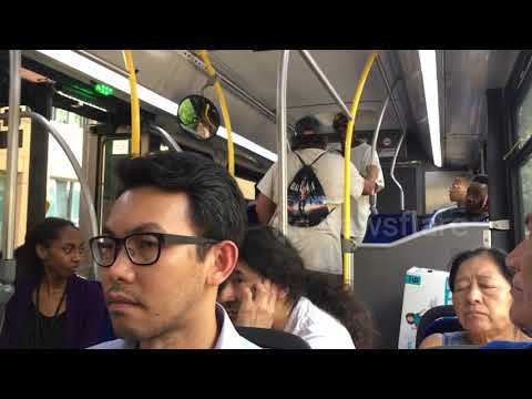 Baseball Bat Used During Intense Fight On A Public Bus