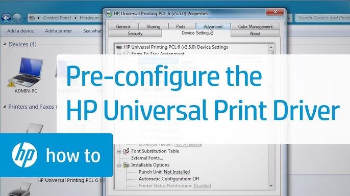 Hp universal print driver for windows