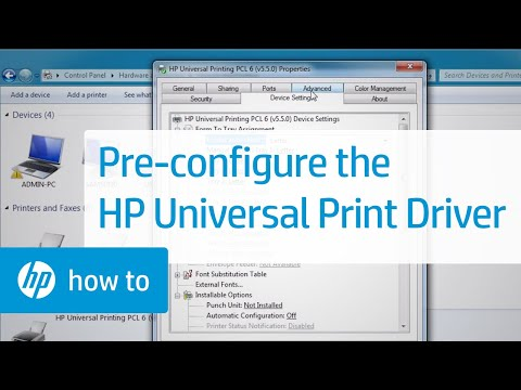 Pre-configuring the HP Universal Print Driver using the HP Driver Configuration Utility Video | HP