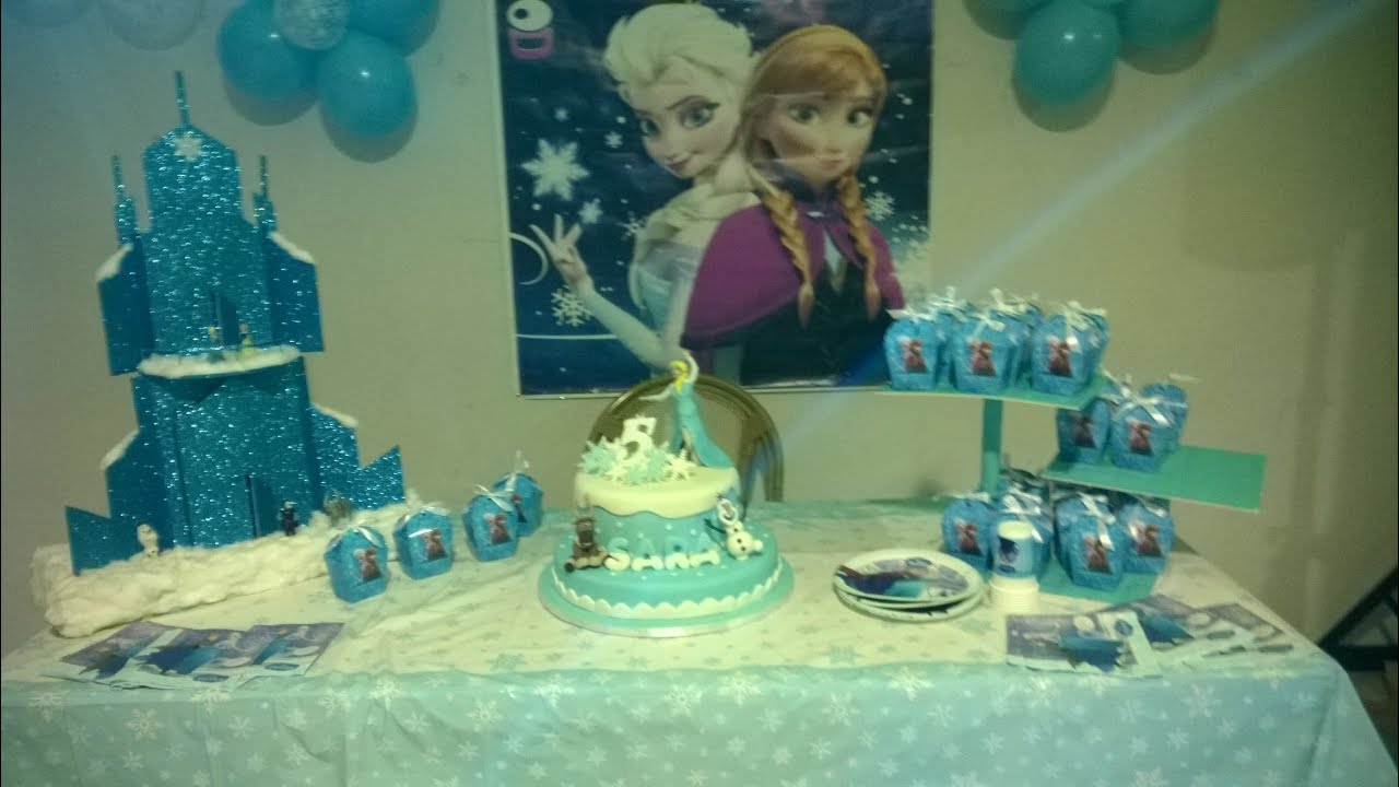 Extrêmement Festa a tema FROZEN - Frozen birthday party ideas - YouTube II82