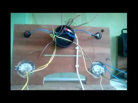 Подключение двухклавишного проходного выключателя viko