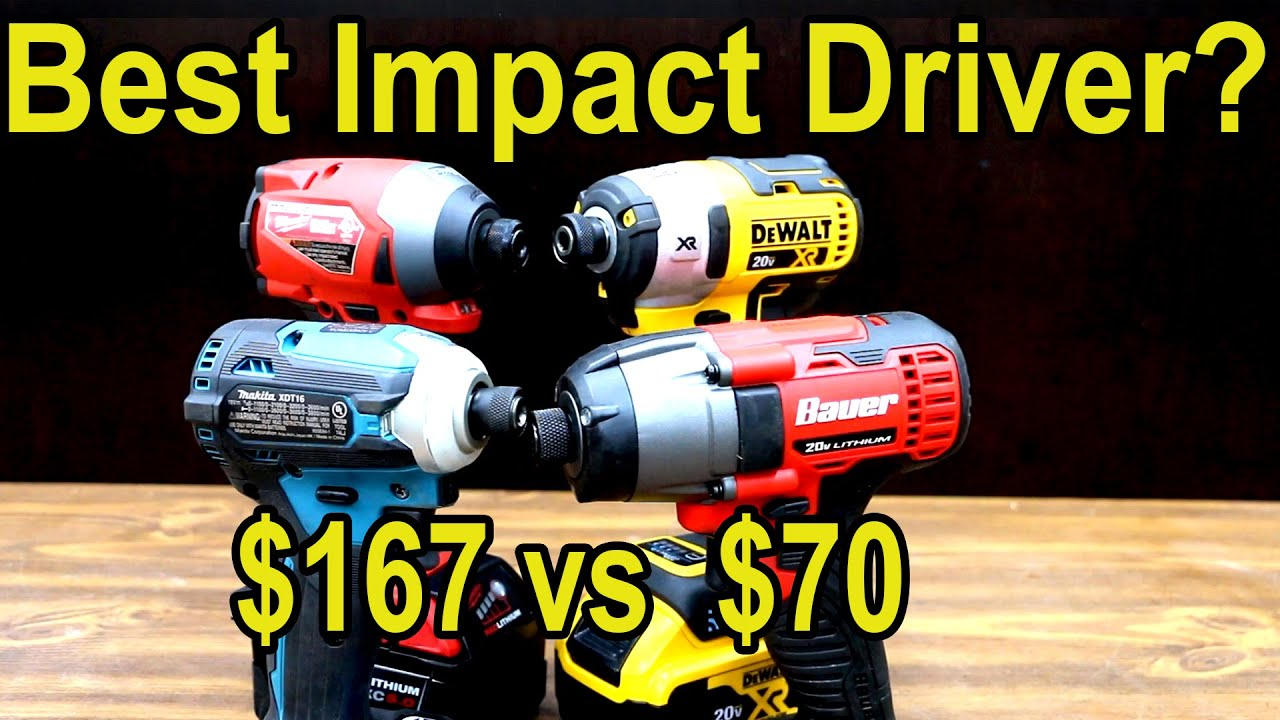 Best Impact Driver? DeWalt vs Milwaukee vs Makita vs Bauer!  Let's find out!