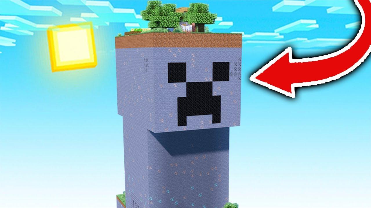 Paso Minecraft pero en un Mundo formado por 1 CREEPER GIGANTE! 😱