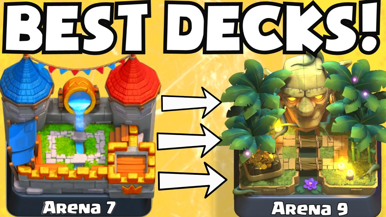 Clash royale best deck for arena 7 arena 9 decks for Clash royale deck arc x