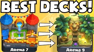 Clash Royale BEST DECK FOR ARENA 7 ARENA 9 DECKS UNDEFEATED | BEST ATTACK STRATEGY TIPS F2P PLAYERS