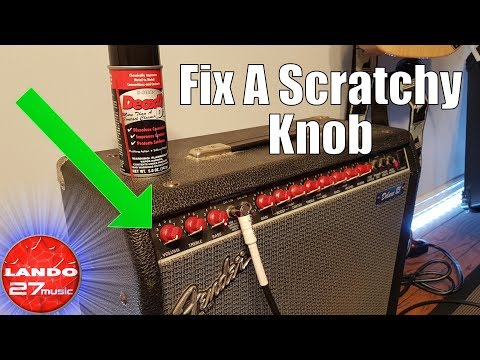 Quickly Fix Scratchy Sounding Amplifier Knobs (pots)