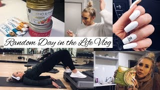 VLOG- Full Body Workout, Messy Bun Tutorial,Trader Joes Haul