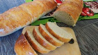 Батон. Вкуснейший  хлеб своими руками в домашних условиях.